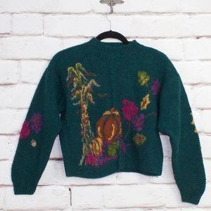 Vintage Woolrich Thanksgiving Harvest Crop Sweater